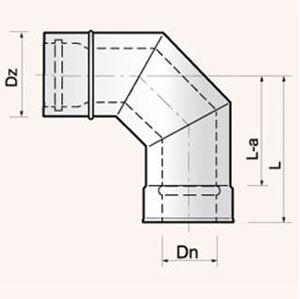 Obrazek Kolanko 90° - EKLX 90  rozmiar 60/100 lub 80/122