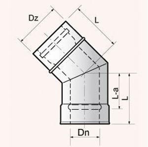 Obrazek Kolanko  45°, 30°, 15° - EKLX 45, 30, 15  rozmiar 60/100 lub  80/122